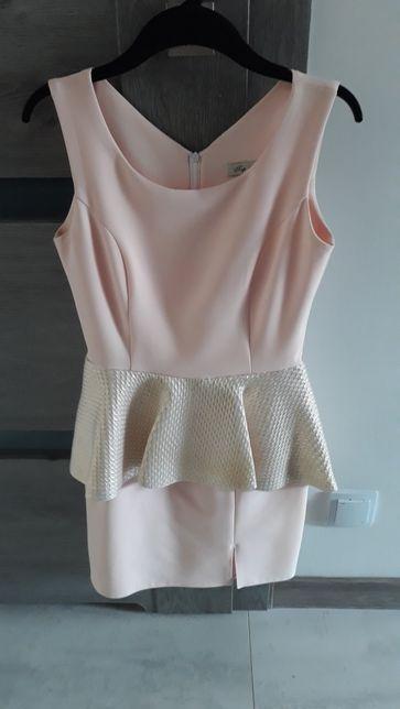 Sukienka ze złotą baskinką r.36