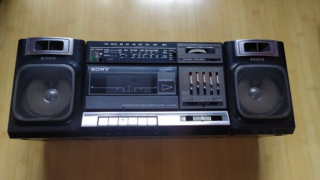 Wieża Magnetofon Sony CFS-1000S vintage 1985rok