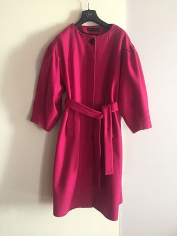 Zara пальто шерстяное