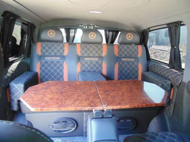 Перетяжка салона обшивка установка сидений, переоборудование авто
