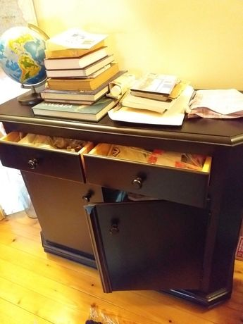Meble drewniane biurko, ława, stolik