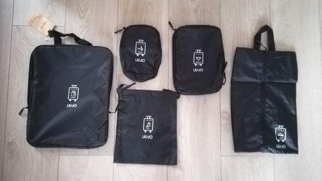 Zestaw Lju Jo torebki podróżne do pakowania NOWE