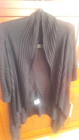 Narzutka czarna ażur L ,sweterek ,kardigan
