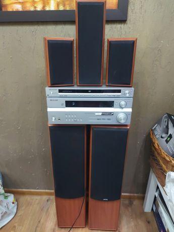 Amplituner Pioneer VSX-417 i DVD Pioneer Zestaw głośników jamo s416 HC
