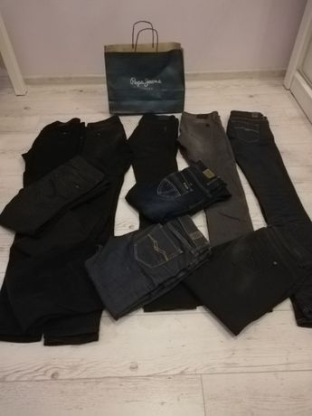 Jeansy najdroższych marek-Replay, Pepe Jeans,Big starNowe i uż.,długie