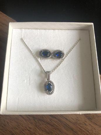 Komplet biżuterii kolczyki i wisiorek kruk Yes Pandora srebrne srebro