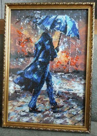 "Картина бисером ""История любви-1"""