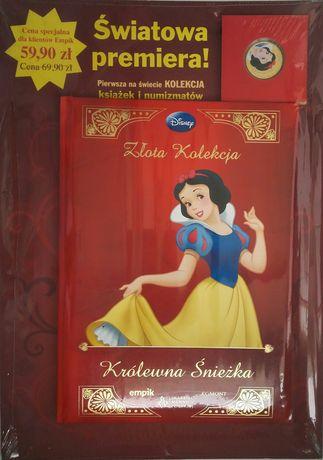 """""""Królewna Śnieżka"""" Disney książka + numizmat ZŁOTA KOLEKCJA!!!"""