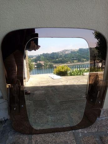 Espelho casa de banho com 2 lâmpadas laterais