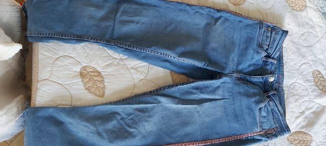 Niebieskie jeansy rurki 36 Orsay