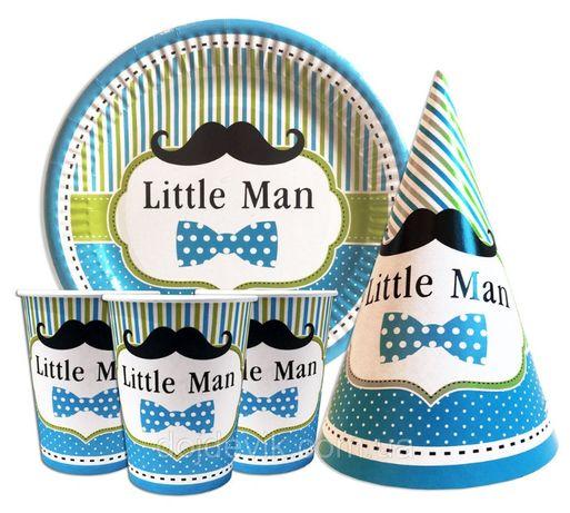 """Набор для детского дня рождения """" little man """"."""