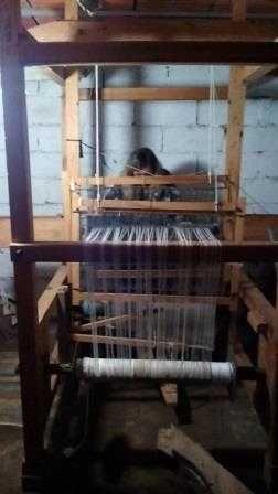 Tear artesanal para fabricar passadeiras e tapetes