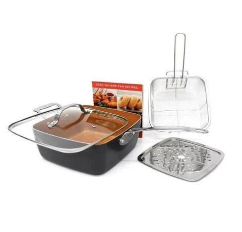 Сковорода 8в1 Кастрюля пароварка фритюр сотейник форма для выпекания