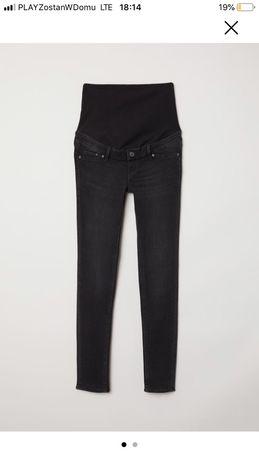 """Jeansy ciążowe H&M rozm 50/XXXL """"czarny sprany"""""""