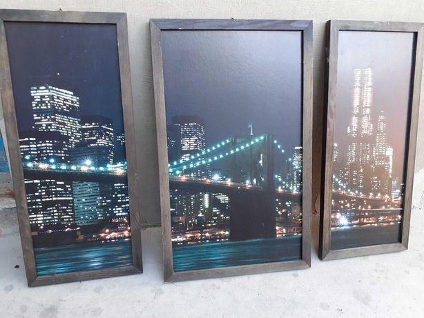 Piekny obraz z widokiem na most 3 czesciowy