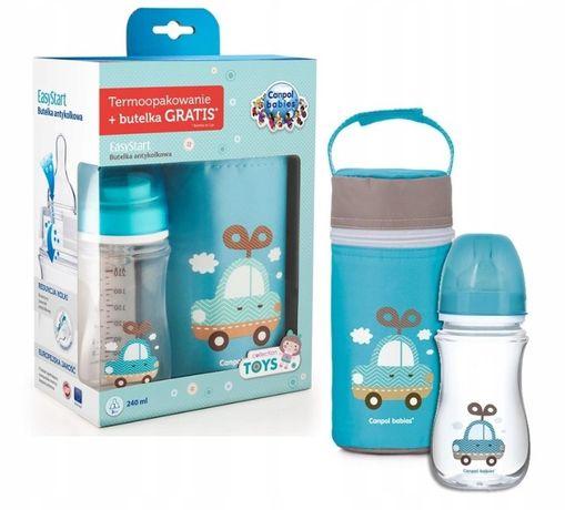 Подарочный набор новорожденному бутылочка и термос термоупаковка , CAN