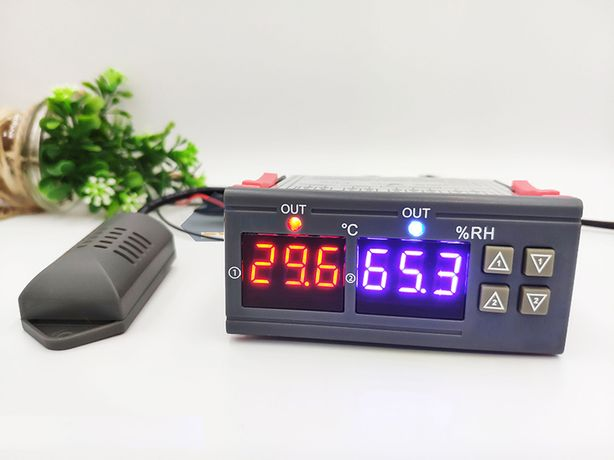 Controlador de Humidade e Temperatura (Higrostato + Termostato) 0.1º