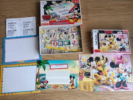 Puzzle Myszka Miki + 2 gry edukacyjne
