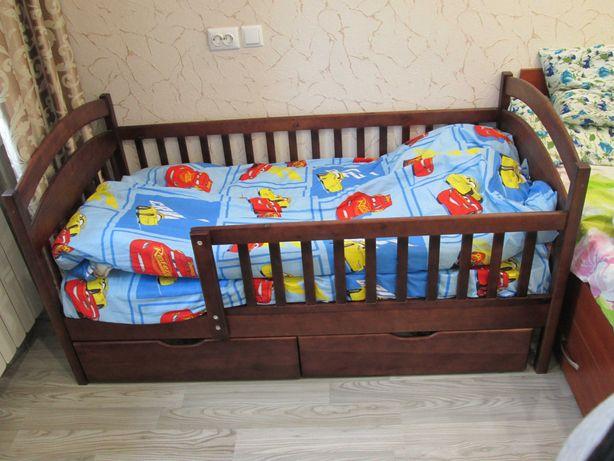 Кровать Карина Люкс 80х160 из дерева Ольхи, комплекты с матрасом.