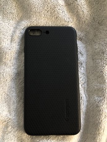 czarne etui spigen iphone 7 plus/8 plus