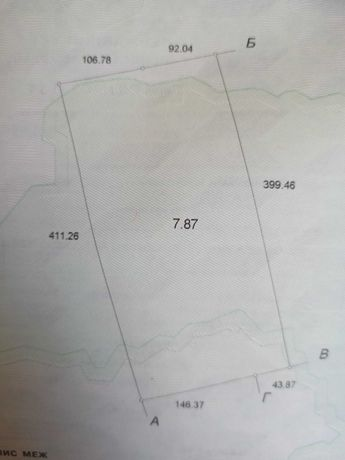 Продам пай 7.87 гектаров