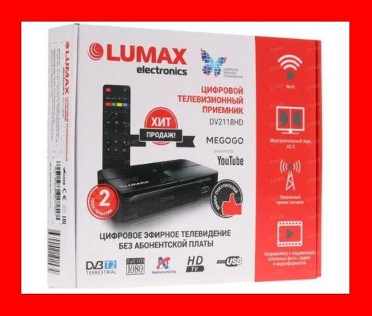 Приставка Т2 Цифровой ТВ тюнер MEGOGO DVB T2 ресивер FTA с IPTV, Wi-Fi