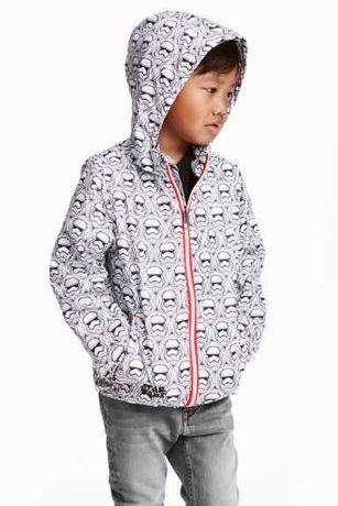 Куртка на флисе из плащевки ветровка с капюшоном звездные войны от H&M
