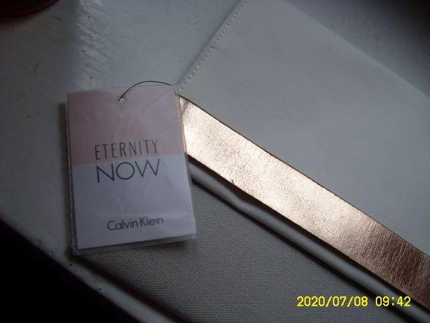 nowa saszetka torebka kopertówka kosmetyczka Calvin Klein biały szary