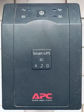 Источник бесперебойного питания ББЖ ИББ APC Smart-UPS SC 420 VA 7A