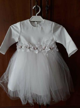 Ubranko do chrztu dla dziewczynki rozmiar 68