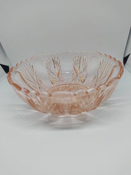 Cukiernica szklana rozalinowa Bernsdorf Sybille Foreign