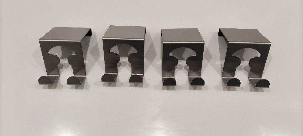 4 cabides inox para porta - artigo novo