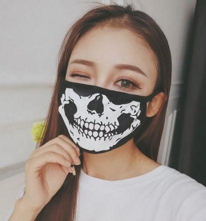 Máscara pano Caveira anti-poeira Motocross Ski Desporto Passeio NOVO