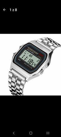 Klasyczny podświetlany zegarek z alarmem.