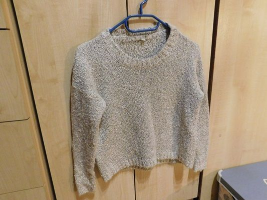 Nowy sweter bukle Reserved paski szary 36 S