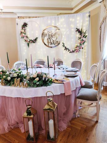 Tip Top Dekor Dekoracje ślubne Kościoła Sali napisy Miłość LovE