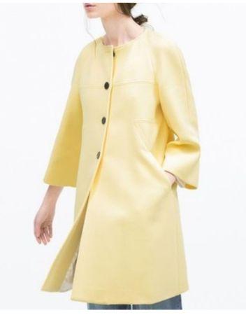 Zara Woman blogerski płaszcz wiosenno jesienny M