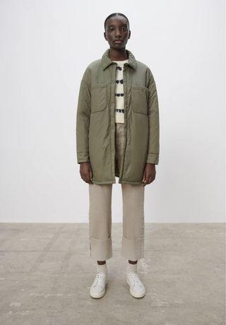 Стильная  куртка рубашечного кроя Zara