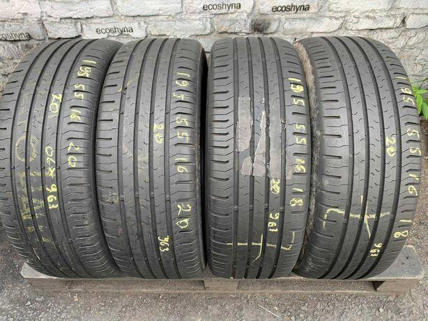 Літні шини 195/55 R16 Continental ContiEcoContact5/4шт/2020рік/7+мм