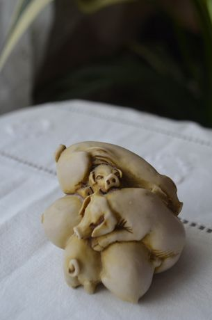 figurka zwierzęta Kupa Świń bibelot gadżet