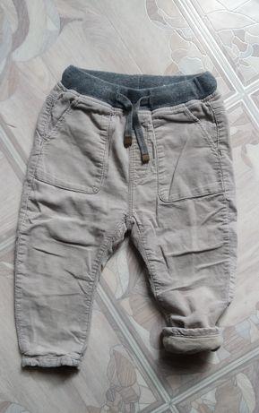 Вельветовы штаны Zara на ХБ подкладке