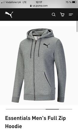 Спортивная кофта / худи на флисе  Puma essentials men, размер s