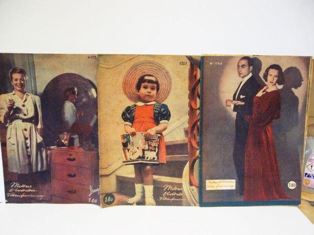 15 revistas vintage Modas & bordados vida feminina de 1945 até 1949