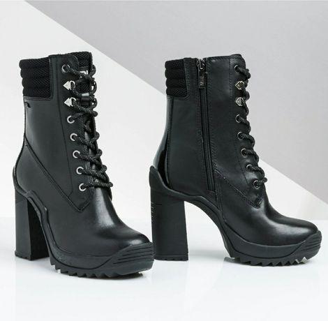 Karl Lagerfeld -  botki kolor czarny