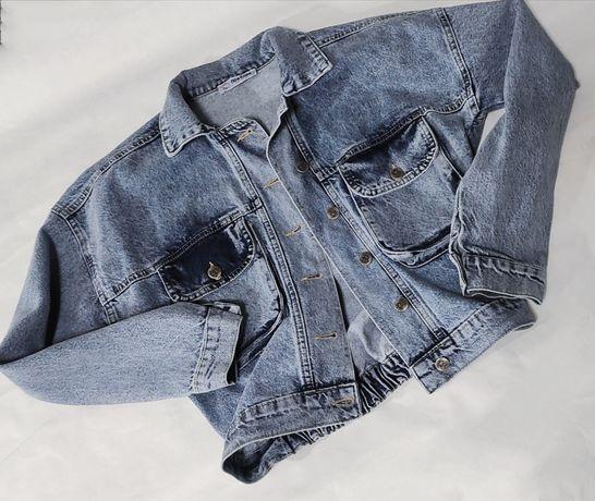 Джинсовка джинсовая куртка  варенка оверсайз