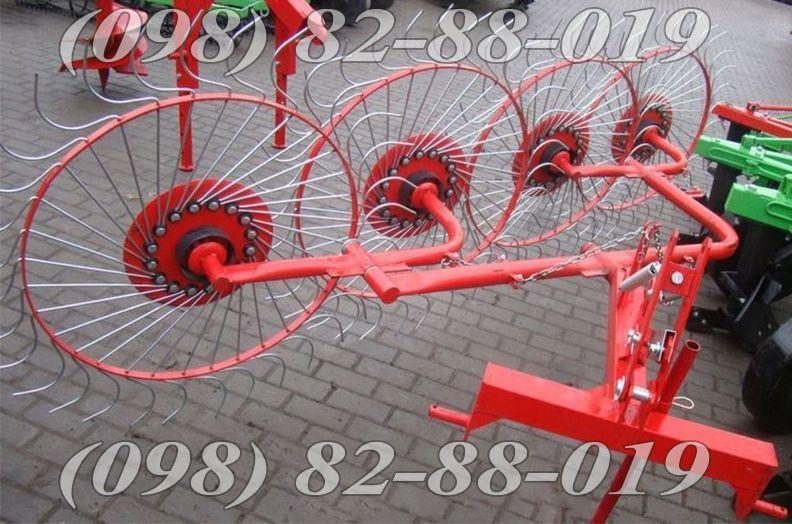 Грабли-ворошилки (Польша) 4 колеса Agromech Борона Опрыскиватель Плуг Винница - изображение 1