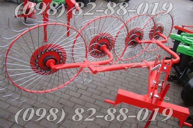 Грабли-ворошилки (Польша) 4 колеса Agromech Борона Опрыскиватель Плуг