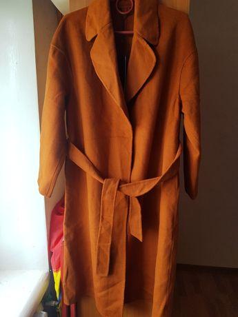 Коричневое осеннее пальто терракотовое новое Only М-Л
