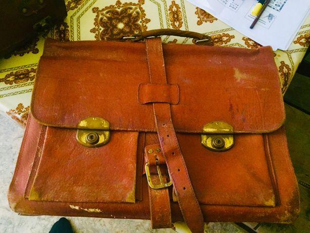 Портфель кожанный ретро