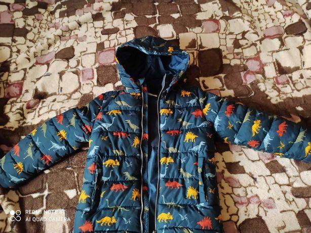 Куртка зима H&M динозавры р. 134